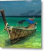Longboat Metal Print by Adrian Evans