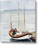 Longboat Metal Print by Sandy Linden