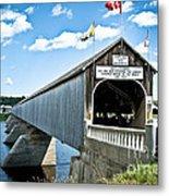 Longest Covered Bridge Metal Print