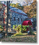 Longfellow's Wayside Inn Grist Mill In Autumn Metal Print