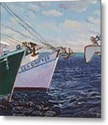 Longliners Achor To Anchor Metal Print