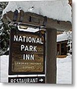Longmire National Park Inn Metal Print