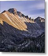 Longs Peak Sunset Metal Print by Aaron Spong