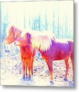 Look At Me Babe And Give Me That Kiss Right Now    Metal Print