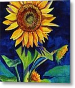 Midnight Sunflower Metal Print