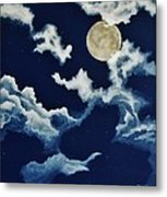 Look At The Moon Metal Print