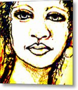 Look In The Mirror - Make A Change Metal Print