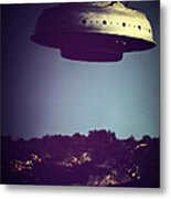 Look... It's A Flying Saucer Metal Print