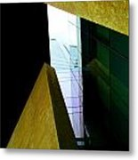 Look Up Mint Uptown Metal Print by Randall Weidner