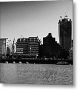 looking across the river thames at the city of London England UK Metal Print