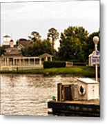 Looking At The Boardwalk Gazebo Walt Disney World Metal Print