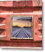 Looking Back Panorama Metal Print