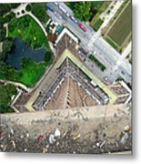 Looking Down From The Eiffel Tower Metal Print