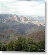 Looking Down Into The Canyon Metal Print