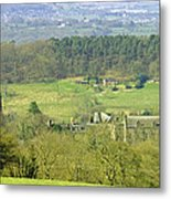 Looking Down On Cotton From Ribdon Metal Print