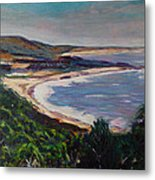 Looking Down On Half Moon Bay Metal Print