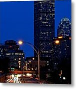Looking Down The Mass Pike From The Brookline Ave Bridge Metal Print