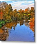 Looking Down The River Metal Print