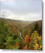 Looking Downstream At Blackwater River Gorge In Fall Metal Print by Dan Friend