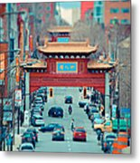 Looking For Chinatown Metal Print
