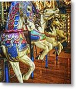 Dancing Horses Metal Print