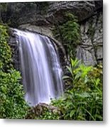 Looking Glass Falls Metal Print by Bob Jackson