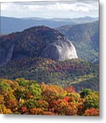 Looking Glass Rock And Fall Folage Metal Print