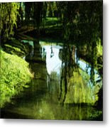 Looking Green And Serene Metal Print