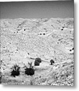 Looking Off Into The Desert At Matmata Tunisia Metal Print