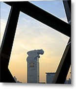 Looking Out From The Birds Nest - Beijing China Metal Print
