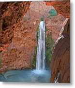 Looking Out From The Cave Metal Print