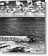 Looking Out Into The Ocean Metal Print