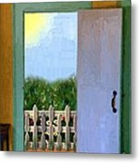 Looking Out My Back Door Metal Print
