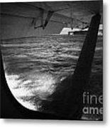 Looking Out Of Seaplane Window Landing On The Water Next To Fort Jefferson Garden Key Dry Tortugas F Metal Print by Joe Fox