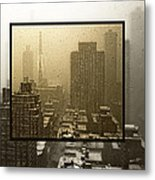 Looking Out On A Snowy Day - Nyc Metal Print