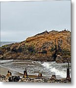 Looking Out On The Pacific Ocean From The Sutro Bath Ruins In San Francisco  Metal Print