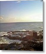 Looking Out Over The Ocean Metal Print