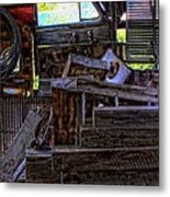 Looking Out The Car Window Metal Print