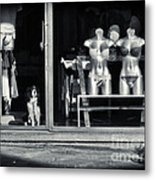 Looking Out The Shoppe Metal Print