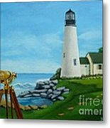 Looking Out To Sea Metal Print