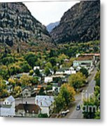 Looking Over Ouray From The Sutton Mine Trail Circa 1955 Metal Print