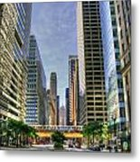 Looking South On Lasalle Metal Print