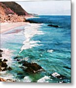 Looking South On The Northern California Coast Metal Print