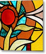 Looking Through Stain Glass Metal Print by Thomas Fouch