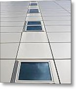 Looking Up At A Modern Building Metal Print