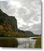 Looking Up At Crown Point Metal Print by Cari Gesch