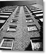 looking up at stangate house 1950s tower block flats housing lambeth London England UK Metal Print