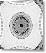 Looking Up At The Inside Of The Main Dome And Whispering Gallery Of Belfast City Hall Built In 1906 County Antrim Northern Ireland Metal Print