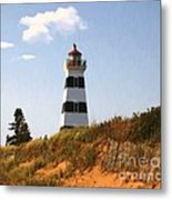 Looking Up From The Dunes At West Point Light Metal Print