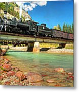 Looking Up From The Riverbed Metal Print